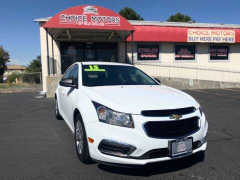2015 Chevrolet Cruze for sale at Choice Motors of Salt Lake City in West Valley  City UT