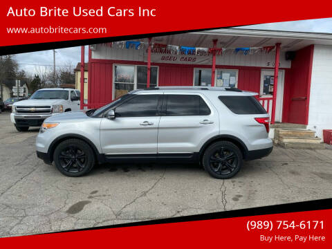 2014 Ford Explorer for sale at Auto Brite Used Cars Inc in Saginaw MI