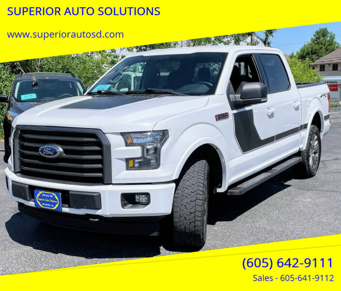 2017 Ford F-150 for sale at SUPERIOR AUTO SOLUTIONS in Spearfish SD