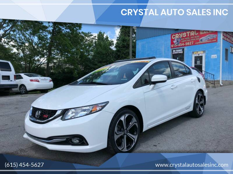 2015 Honda Civic for sale at Crystal Auto Sales Inc in Nashville TN