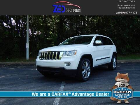 2012 Jeep Grand Cherokee for sale at Zed Motors in Raleigh NC
