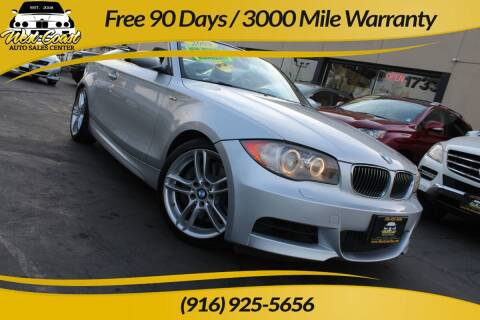 2008 BMW 1 Series for sale at West Coast Auto Sales Center in Sacramento CA