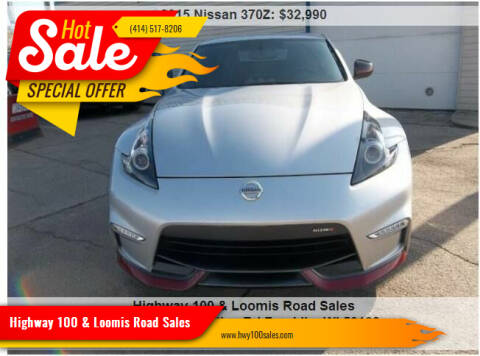 2015 Nissan 370Z for sale at Highway 100 & Loomis Road Sales in Franklin WI