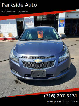 2013 Chevrolet Cruze for sale at Parkside Auto in Niagra Falls NY