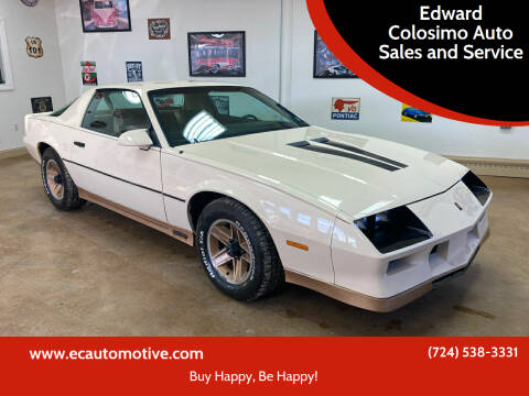 1984 Chevrolet Camaro for sale at Edward Colosimo Auto Sales and Service in Evans City PA