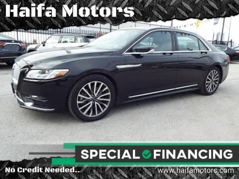 2019 Lincoln Continental for sale at Haifa Motors in Philadelphia PA
