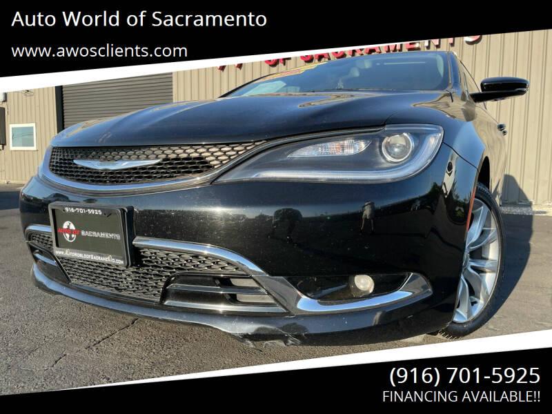 2015 Chrysler 200 for sale at Auto World of Sacramento Stockton Blvd in Sacramento CA