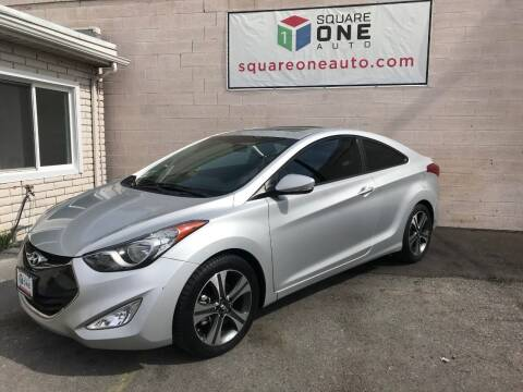 2013 Hyundai Elantra Coupe for sale at SQUARE ONE AUTO LLC in Murray UT