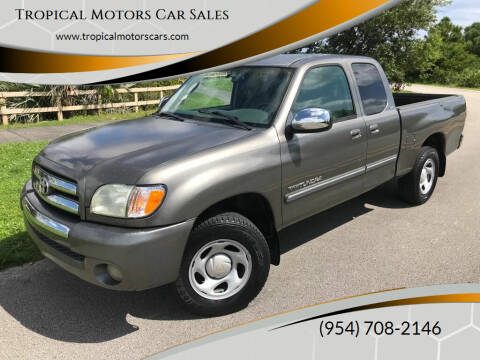 2004 Toyota Tundra for sale at Tropical Motors Car Sales in Deerfield Beach FL