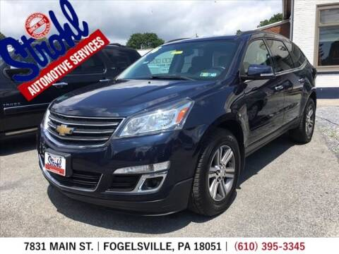 2016 Chevrolet Traverse for sale at Strohl Automotive Services in Fogelsville PA