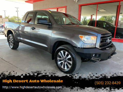 2013 Toyota Tundra for sale at High Desert Auto Wholesale in Albuquerque NM