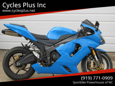 2005 Kawasaki ZX6-R 636 for sale at Cycles Plus Inc in Garner NC