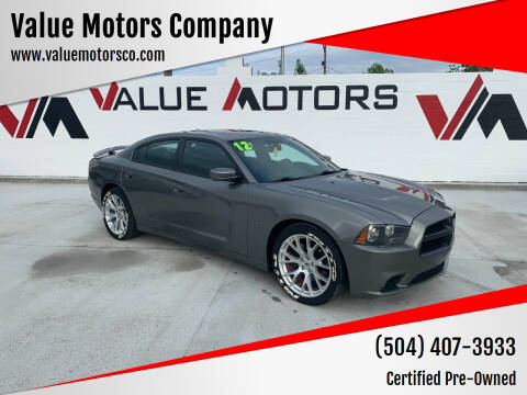 2012 Dodge Charger for sale at Value Motors Company in Marrero LA
