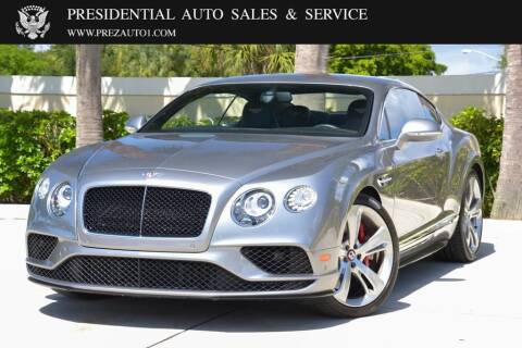 2017 Bentley Continental for sale at Presidential Auto  Sales & Service in Delray Beach FL