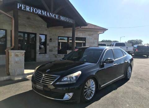2016 Hyundai Equus for sale at Performance Motors Killeen Second Chance in Killeen TX