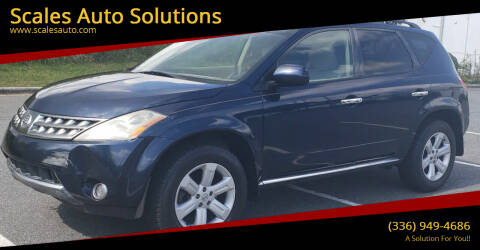 2006 Nissan Murano for sale at Scales Auto Solutions in Madison NC