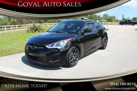 2013 Hyundai Veloster for sale at Goval Auto Sales in Pompano Beach FL