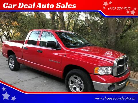 2004 Dodge Ram Pickup 1500 for sale at Car Deal Auto Sales in Sacramento CA