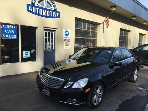 2010 Mercedes-Benz E-Class for sale at HUDSON ROAD AUTOMOTIVE in Stow MA