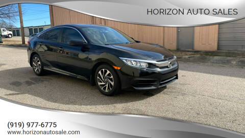 2018 Honda Civic for sale at Horizon Auto Sales in Raleigh NC