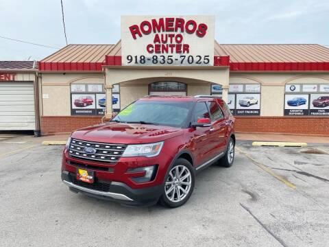 2016 Ford Explorer for sale at Romeros Auto Center in Tulsa OK