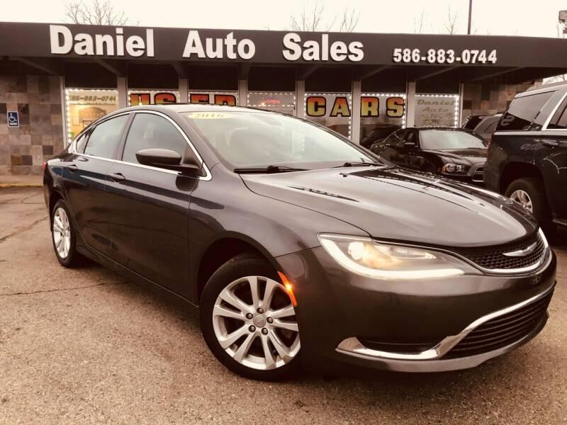 2016 Chrysler 200 for sale at Daniel Auto Sales inc in Clinton Township MI