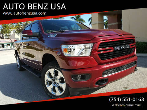 2020 RAM Ram Pickup 1500 for sale at AUTO BENZ USA in Fort Lauderdale FL