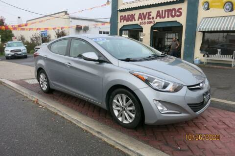 2015 Hyundai Elantra for sale at PARK AVENUE AUTOS in Collingswood NJ