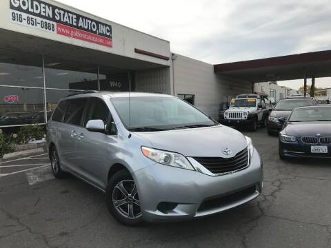 2013 Toyota Sienna for sale at Golden State Auto Inc. in Rancho Cordova CA