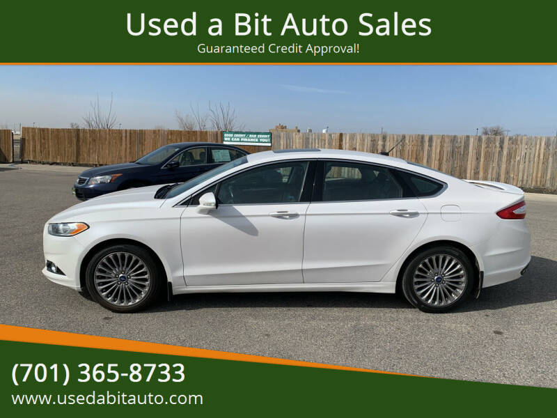 2013 Ford Fusion for sale at Used a Bit Auto Sales in Fargo ND