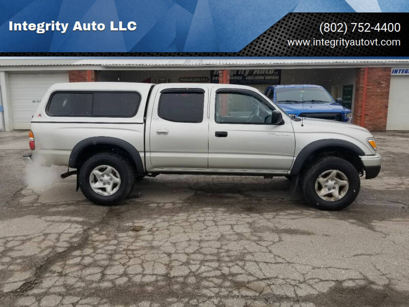 2002 Toyota Tacoma for sale at Integrity Auto LLC - Integrity Auto 2.0 in St. Albans VT