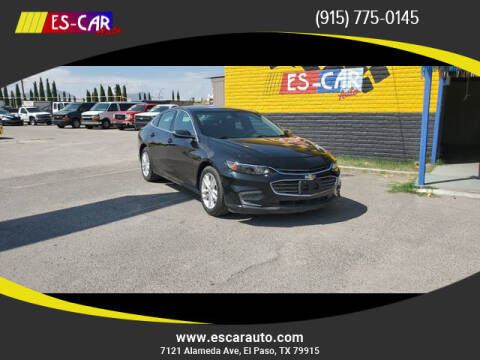 2016 Chevrolet Malibu for sale at Escar Auto - 9809 Montana Ave Lot in El Paso TX