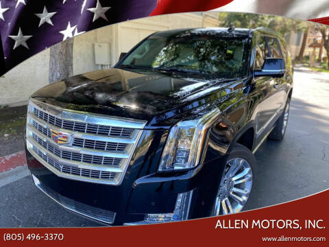 2017 Cadillac Escalade for sale at Allen Motors, Inc. in Thousand Oaks CA