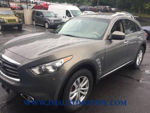 2014 Infiniti QX70 for sale at J & M Automotive in Naugatuck CT