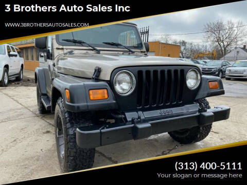 2003 Jeep Wrangler for sale at 3 Brothers Auto Sales Inc in Detroit MI