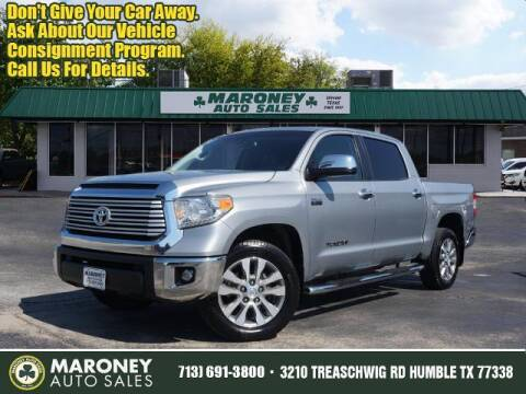 2017 Toyota Tundra for sale at Maroney Auto Sales in Humble TX
