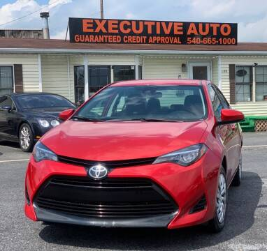 2018 Toyota Corolla for sale at Executive Auto in Winchester VA