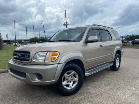 2002 Toyota Sequoia for sale at TWIN CITY MOTORS in Houston TX
