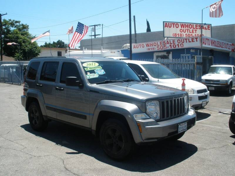 2012 Jeep Liberty for sale at AUTO WHOLESALE OUTLET in North Hollywood CA