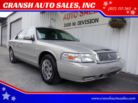 2007 Mercury Grand Marquis for sale at CRANSH AUTO SALES, INC in Arlington TX