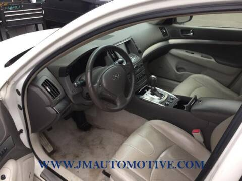 2012 Infiniti G37 Sedan for sale at J & M Automotive in Naugatuck CT