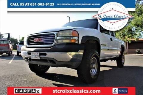 2001 GMC Sierra 2500HD for sale at St. Croix Classics in Lakeland MN