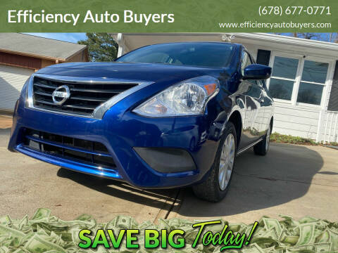 2018 Nissan Versa for sale at Efficiency Auto Buyers in Milton GA