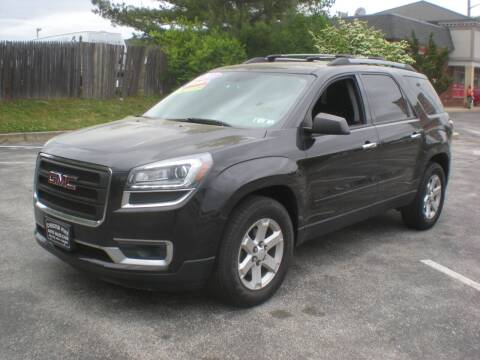 2013 GMC Acadia for sale at 611 CAR CONNECTION in Hatboro PA
