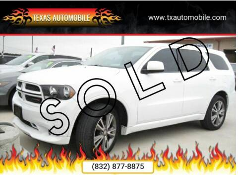 2013 Dodge Durango for sale at TEXAS AUTOMOBILE in Houston TX