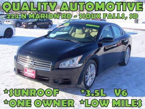 2011 Nissan Maxima for sale at Quality Automotive in Sioux Falls SD
