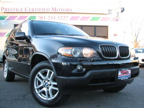 2004 BMW X5 for sale at Prestige Certified Motors in Falls Church VA