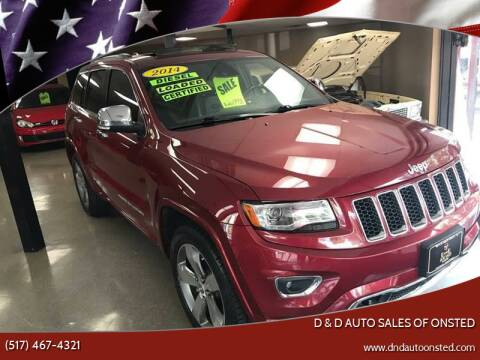 2014 Jeep Grand Cherokee for sale at D & D Auto Sales Of Onsted in Onsted   Brooklyn MI