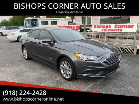 2017 Ford Fusion Hybrid for sale at BISHOPS CORNER AUTO SALES in Sapulpa OK