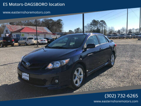 2012 Toyota Corolla for sale at ES Motors-DAGSBORO location in Dagsboro DE